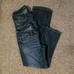 BUNDLE OF 2 American eagle boyfit stretch Jean's